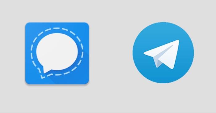 Signal Telegram Icones Logos