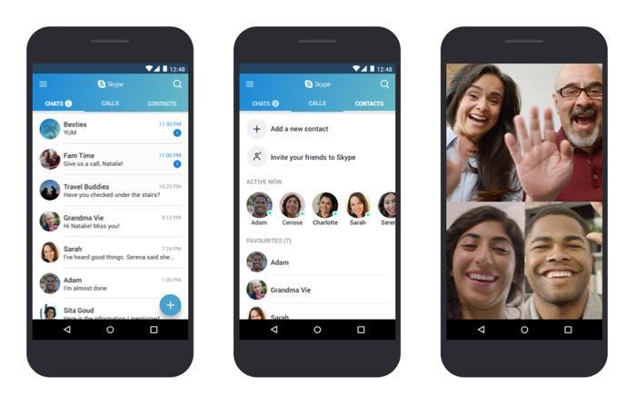 Skype Android Optimisee Vieux Smartphones