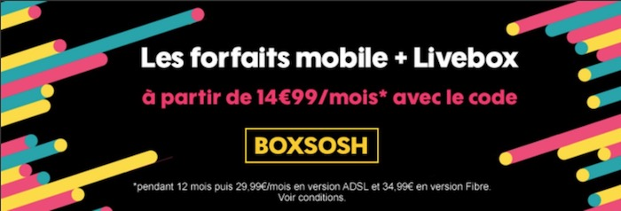 Sosh Promo Forfaits Mobile Et Livebox Mars 2018