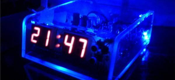 Radio Reveil Cmos Led Plexi 600x275