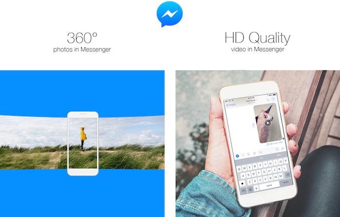 Facebook Messenger Photo 360 Degres Videos HD