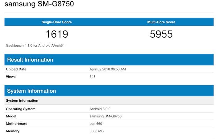 Fuite GeekBench Suppose Galaxy S9 Mini