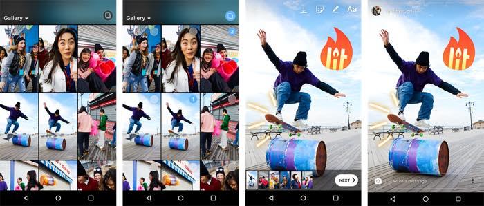 Instagram Stories Envoi Plusieurs Photos Videos
