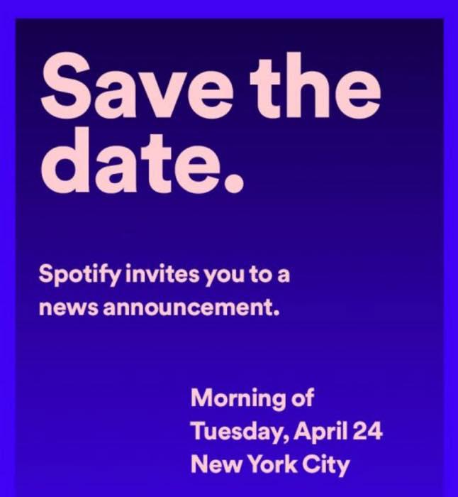 Invitation Spotify Conference 24 Avril