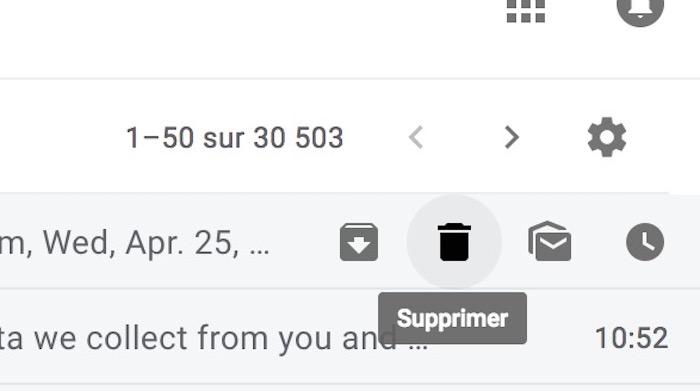 Nouveau Gmail Boutons Actions