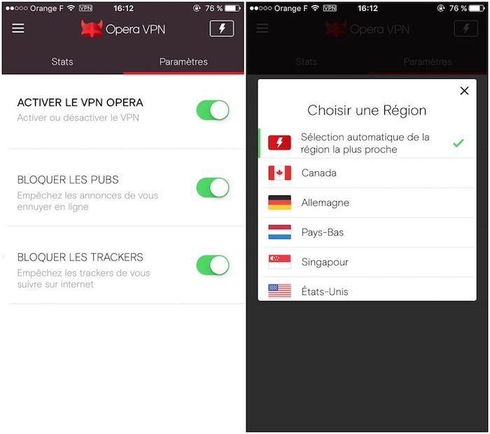 Opera VPN IPhone