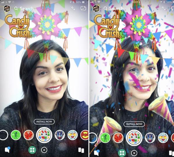Snapchat Filtres Sponsorises Bouton Achat