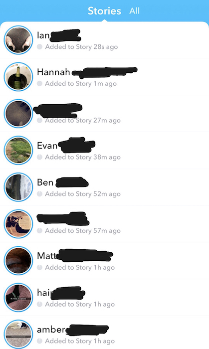 Snapchat Stories Ordre Chronologique