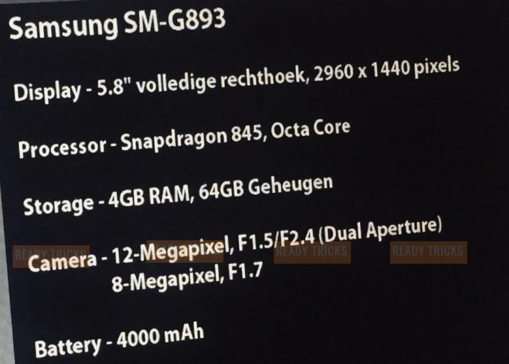 Specs Galaxy S9 Active