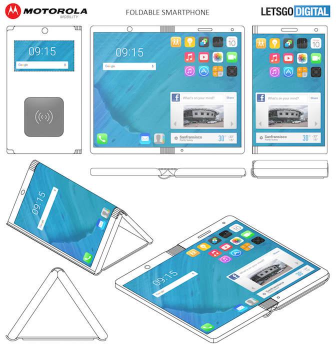 Brevet Motorola Smartphone Pliable