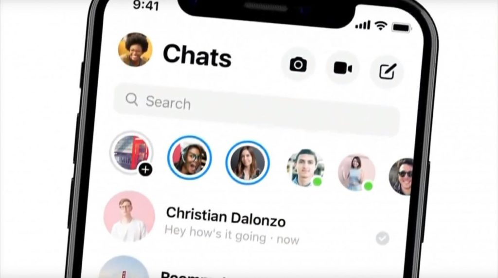 Facebook Messenger Nouveau Design 2018 Stories 1024x571