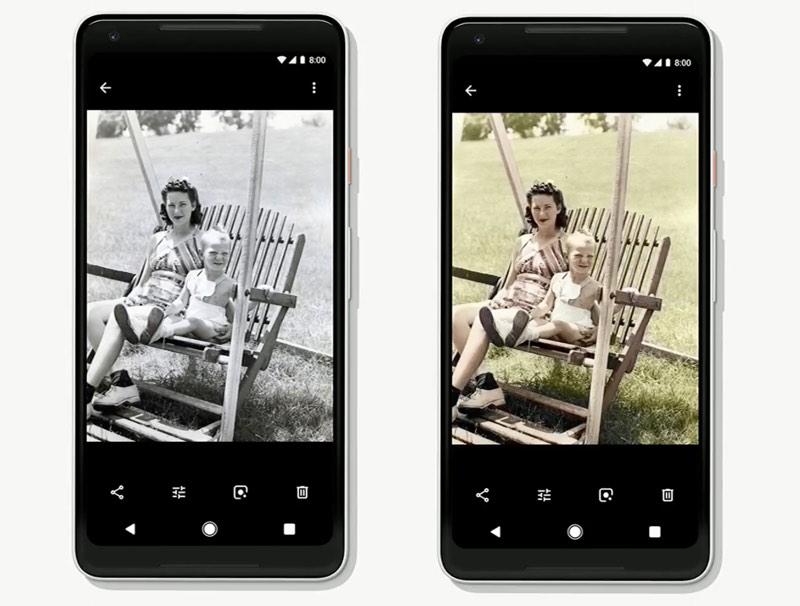 Google Photos Coloriser Photos