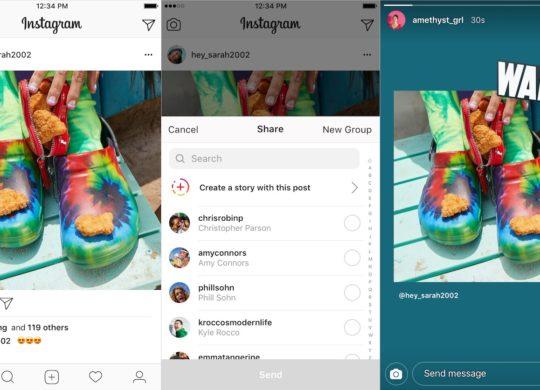 Instagram Publications vers Stories