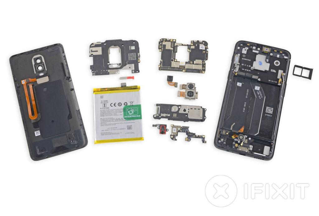OnePlus 6 Demontage IFixit 1024x693