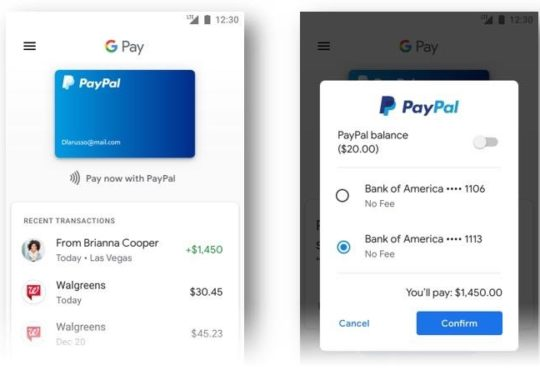 PayPal Paiements Services Google