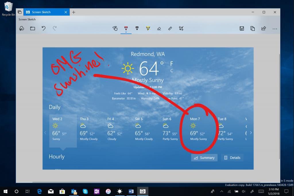 Windows 10 Edition Rapide Capture Ecran 1024x683