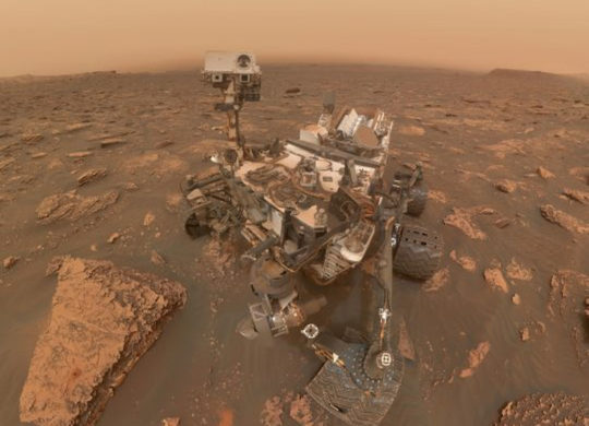 Curiosity Mars tempete