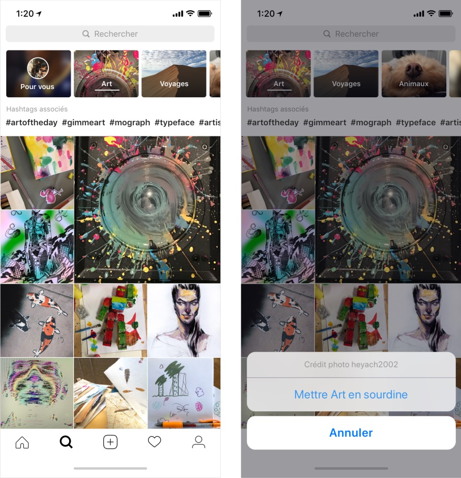 Instagram Explorer Chaines Thematiques