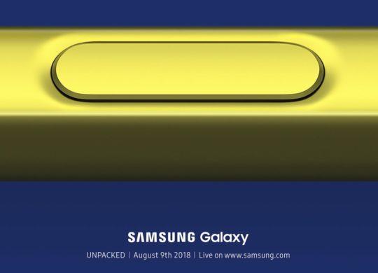 Samsung Invitation Conference 9 Aout 2018