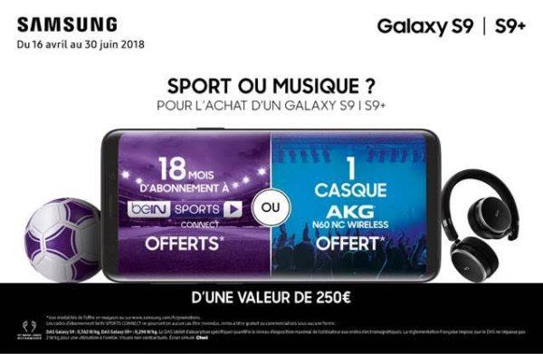 Sport Ou Musique Samsung S9 600x391