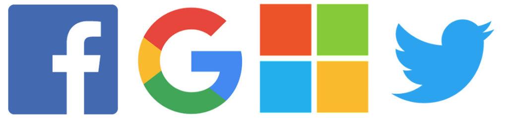 Facebook Google Microsoft Twitter Logos 1024x238