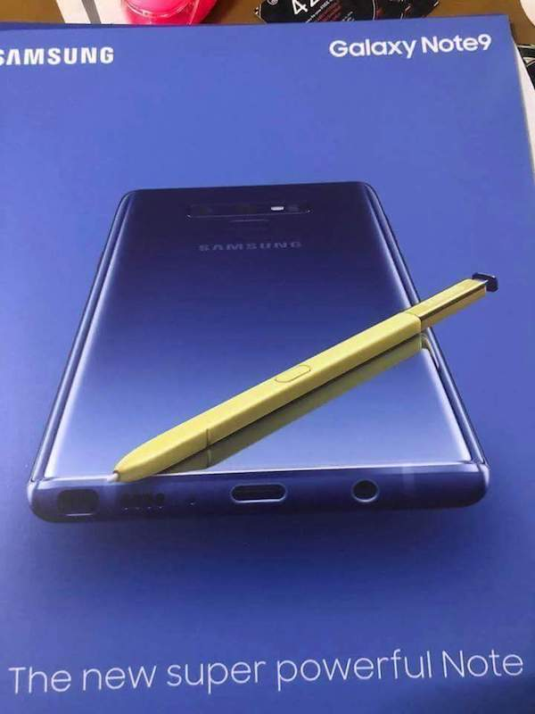 Fuite Galaxy Note 9