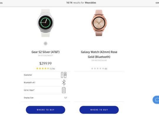 Fuite Galaxy Watch
