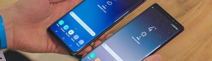 Galaxy S9 Plus vs Galaxy Note 8