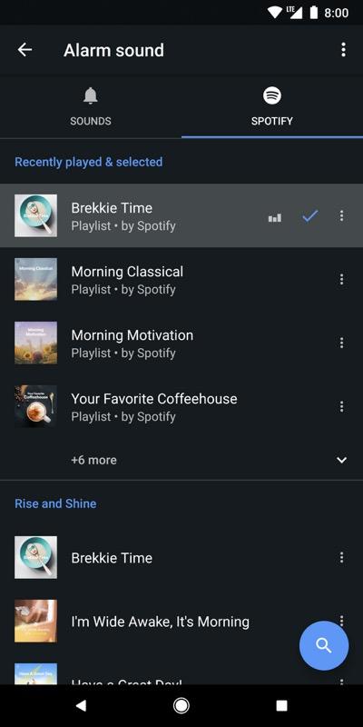 Google Application Horloge Spotify
