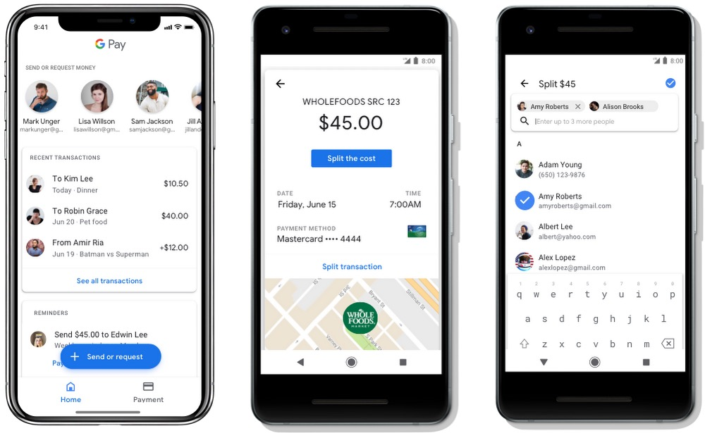 Google Pay Argent Entre Amis