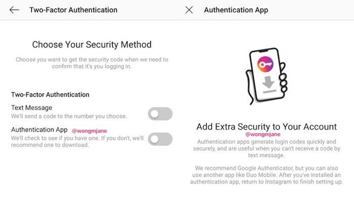 Instagram Authentification Deux Etapes