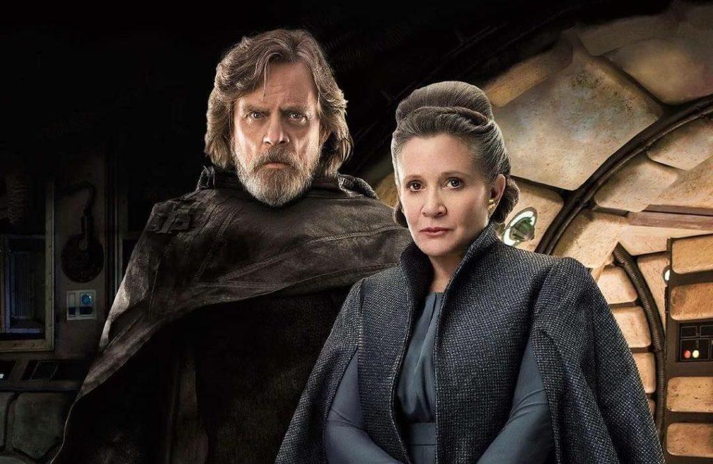 Luke Skywalker General Leia 1024x667