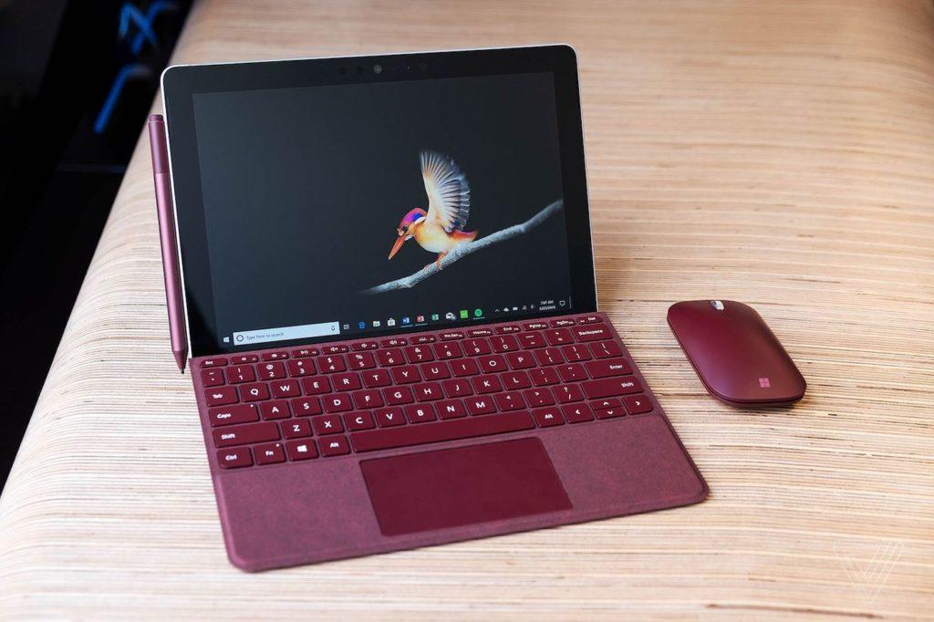Microsoft Surface Go Et Souris Et Stylet 1024x682