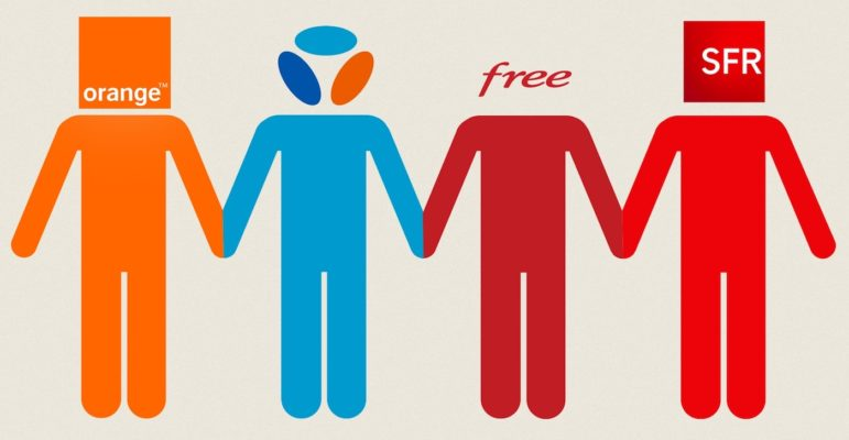 Orange Bouygues Free SFR Logos Operateurs 4G 5G