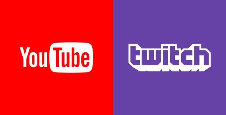Twitch YouTube Logos
