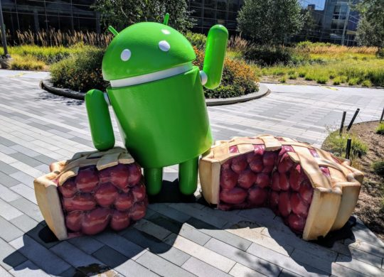Android 9.0 Pie Statue