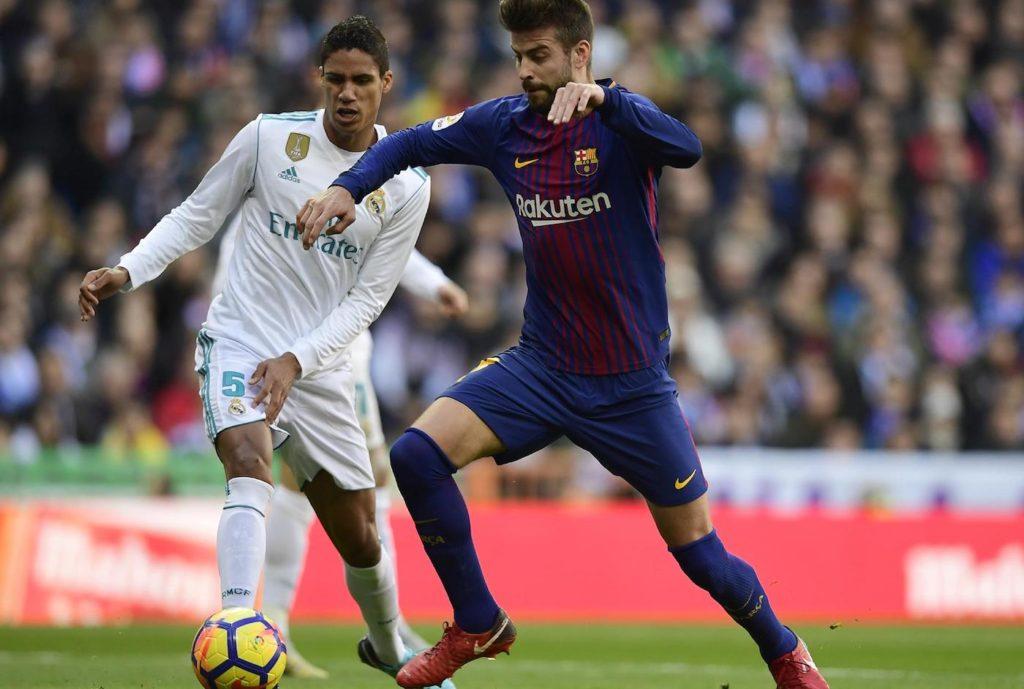 Barcelone Madrid Football Varana Pique 1024x689