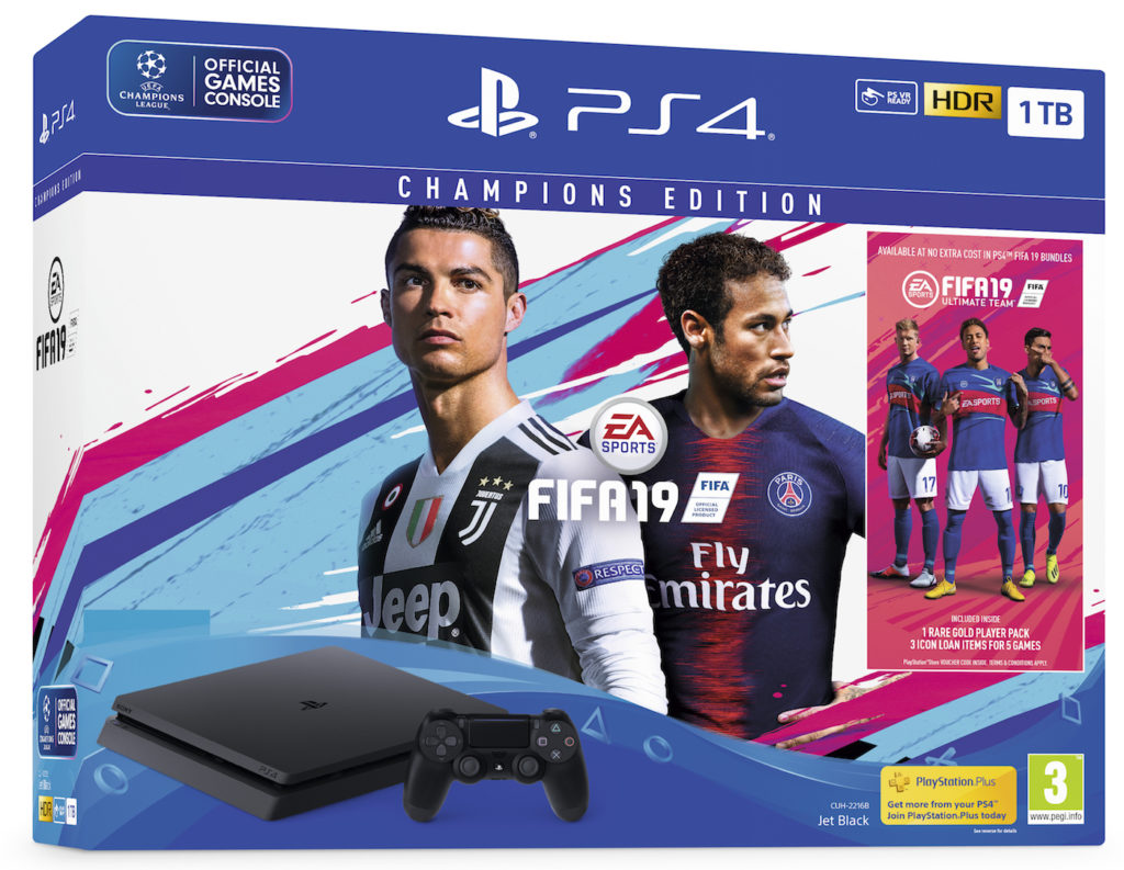 FIFA 19 Pack Edition Champions PS4 Pro 1024x793