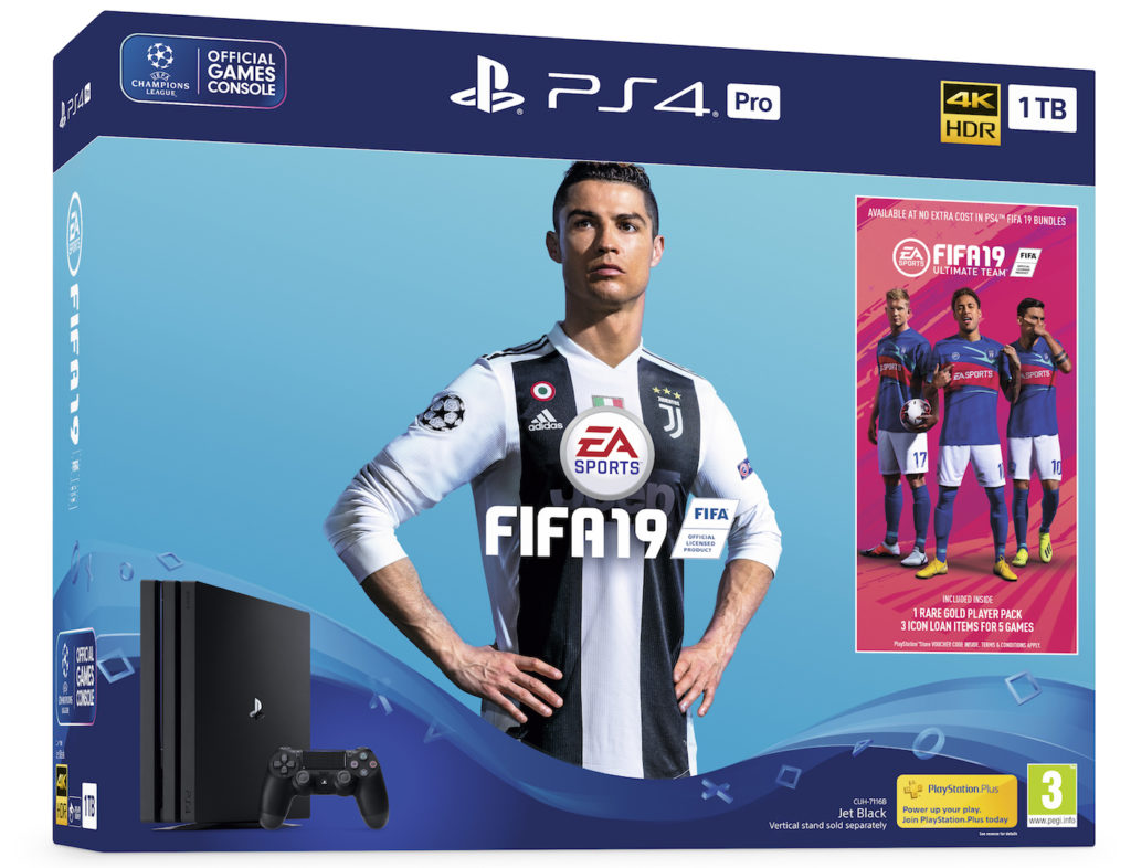 FIFA 19 Pack PS4 Pro 1024x786