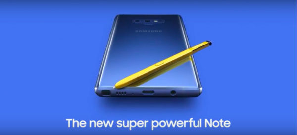 Galaxy Note 9 Leak 600x273