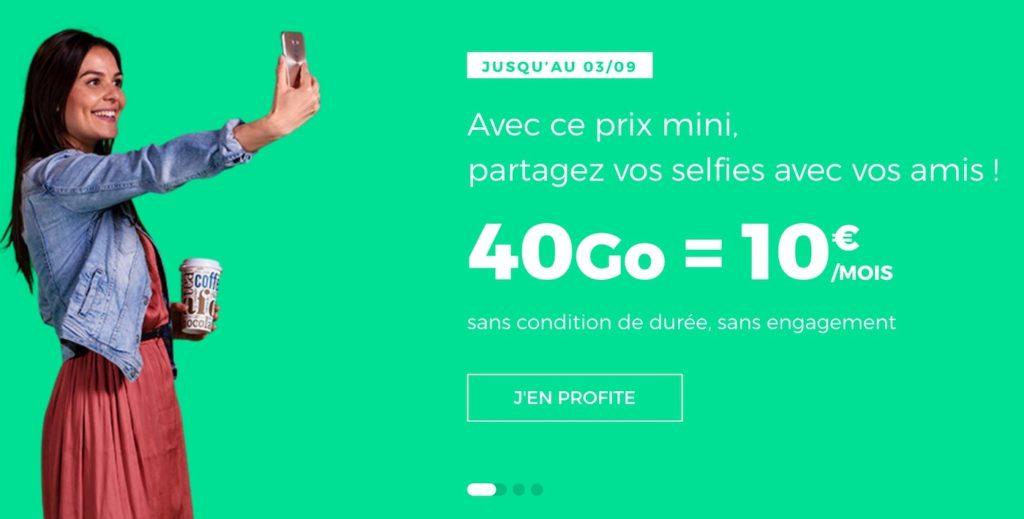 SFR RED Forfait 10 Euros A Vie 40 Go 1024x519