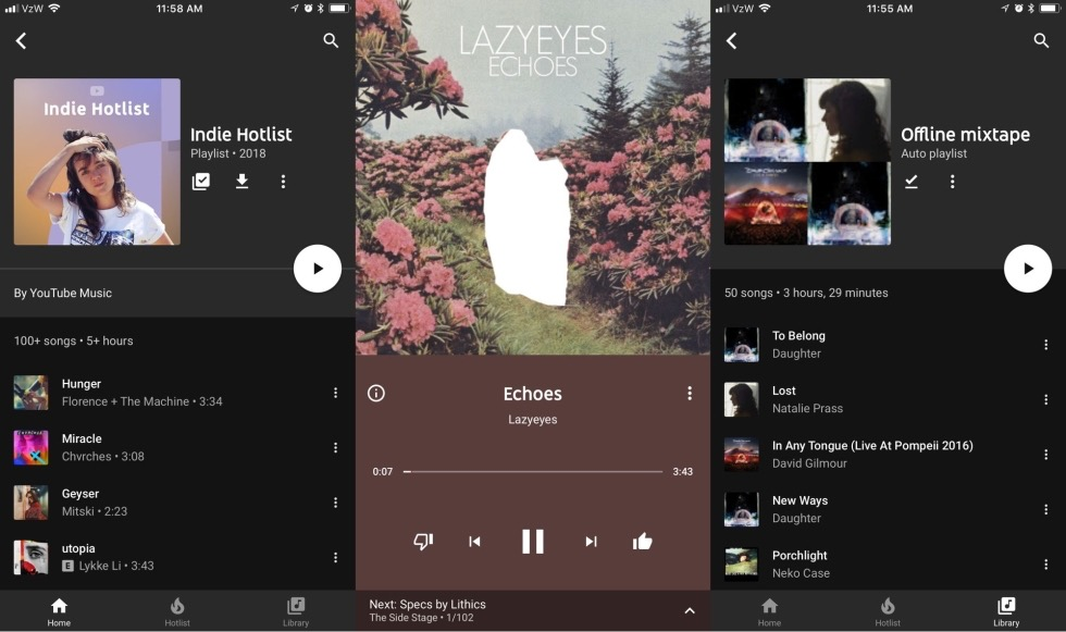 YouTube Music Application IPhone