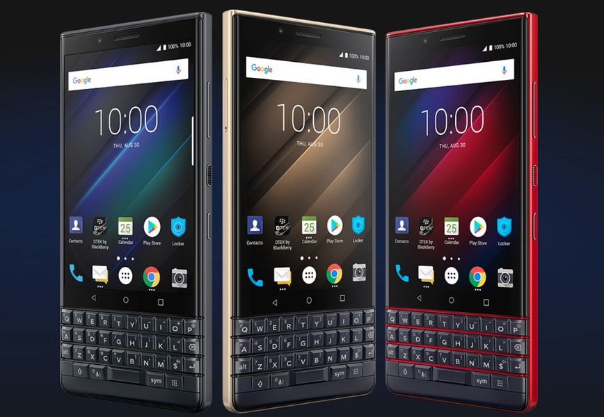 BlackBerry Key 2 LE Colors Angled