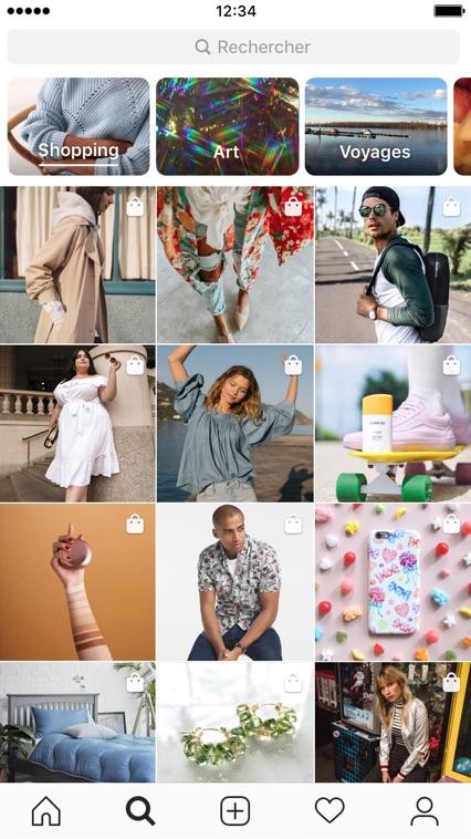 Instagram Chaine Shopping