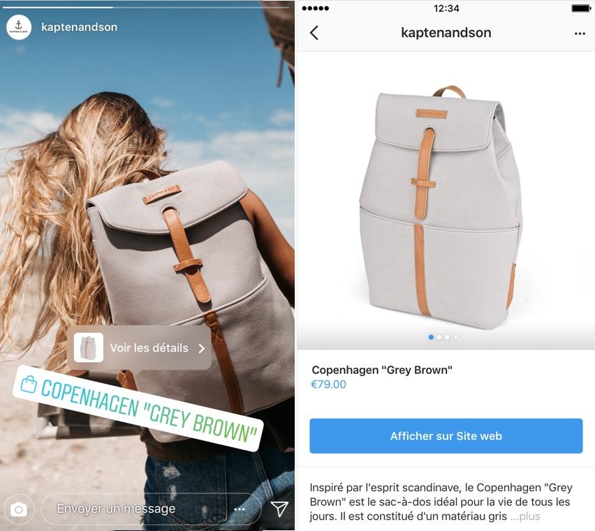 Instagram Stories Shopping