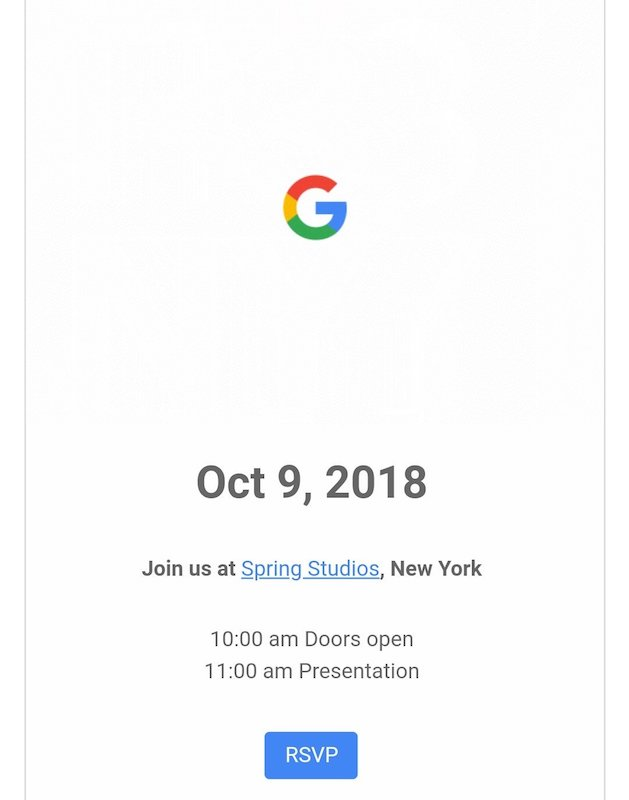 Invitation Conference Google 9 Octobre 2018