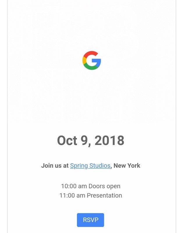 Invitation Conference Google 9 Octobre 2018