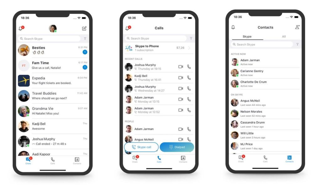 Skype Mobile Design Simplifie 1024x601