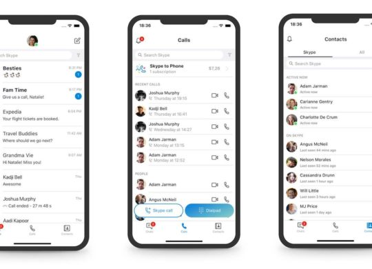 Skype Mobile Design Simplifie