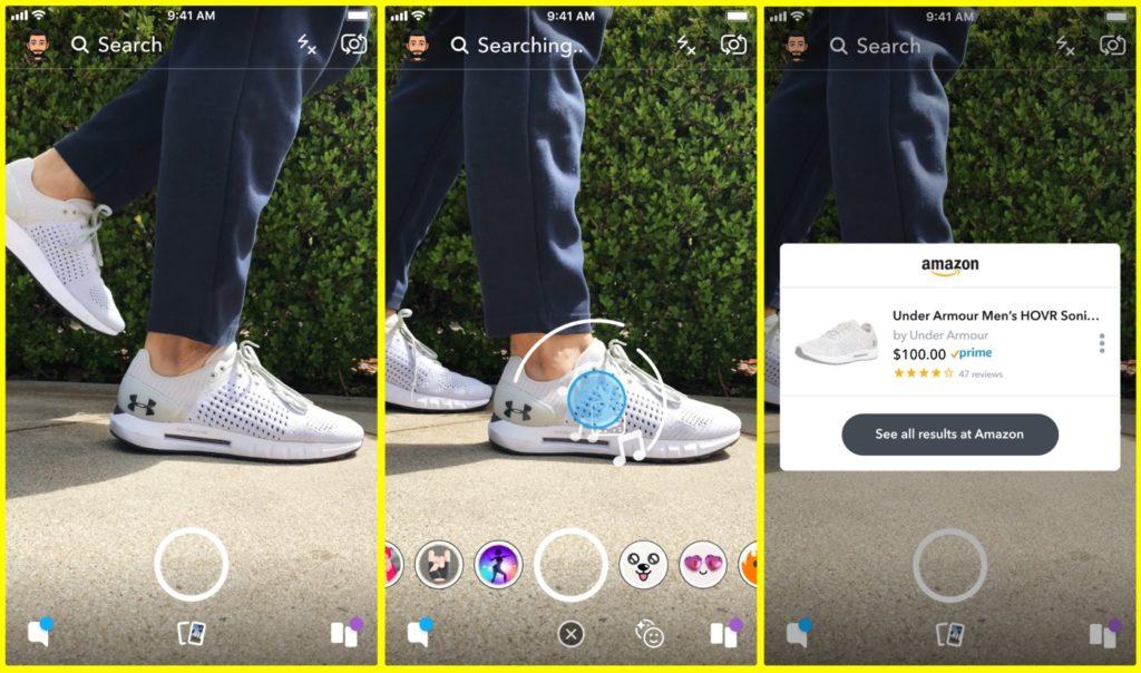 Snapchat Reconnaissance Produits Achat Amazon 1024x604